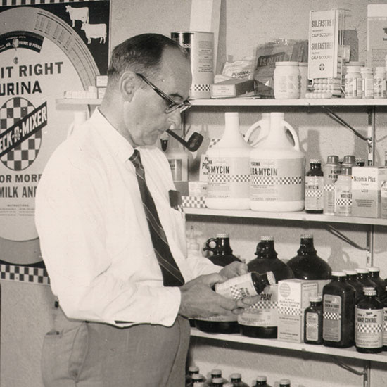 Founder Mel Wenger in his store